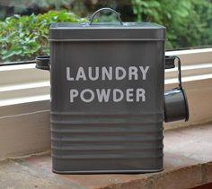 retro enamel laundry powder tin