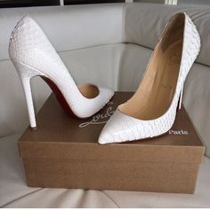 #Pigalle snake print #Louboutins