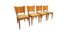 Shipping is not included, contact us for more info.  Set of 4 Mid-Century Danish Modern Heywood Wakefield Champagne Dining Chairs #2  What a find. Offered is a Set of 4 Mid-Century Danish Modern Heywood Wakefield Champagne Stringray Dining Chairs. The chairs have the lines and design that scream mo