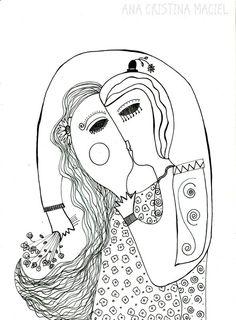 ilustração Título: O abraço Ana Cristina Maciel 2015
