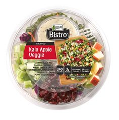 Kale Apple Veggie Chopped salad serves as a delicious, new chopped salad. Packed with delicious toppings! Healthy Store Bought Snacks, Bistro Salad, Salad Packaging, Protein Salad, Salad Kits, Rainbow Salad, Salads To Go, Bbc Good Food Recipes, Chopped Salad