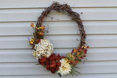 Fall wreath. Fall door decor. Late summer wreath. by JBakerDesign