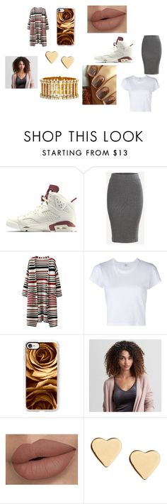 """""""gold rush"""" by nayla-thomas on Polyvore featuring RE/DONE, Casetify, American Eagle Outfitters, Lipsy and Cartier"""