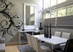 i LOVE this dining room. especially the wall art
