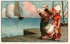 Carte de A. Bertiglia. with a doll