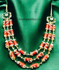 Mothers Day Gift / Diamond Solitaire Necklace in Gold / Bezel Set Diamond Solitaire Necklace / Valentines Day Gift - Fine Jewelry Ideas Indian Gold Jewellery Design, Bead Jewellery, Temple Jewellery, Indian Jewelry, Beaded Jewelry, Fine Jewelry, Beaded Necklace, Jewelry Design, Coral Jewelry