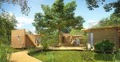 habitations légères de loisir avec toit terrasse