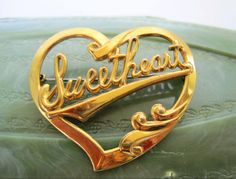 Excited to share the latest addition to my #etsy shop: Sweetheart  Brooch -  Gold Tone - Vintage 60's - Gift for Woman