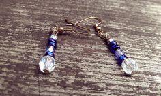 Crystal Blue Dreams Dangle Earrings
