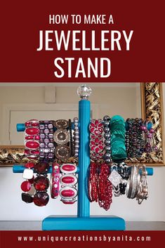 How to make a Jewellery/Scrunchies Stand Jewellery display stand tutorial made from scrap wood. It works great for storing bracelets and even great to store scrunchies. Jewelry Display Stands, Jewelry Stand, Jewellery Storage, Jewellery Display, Diy Jewelry To Sell, Wood Home Decor, Room Decor, Do It Yourself Projects, Diy Craft Projects