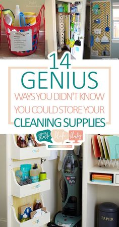 14 Genius Ways You Didn't Know You Could Store Your Cleaning Supplies