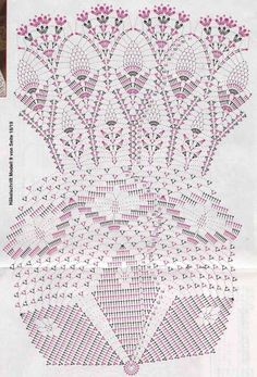 Instructions for Crochet Round Table Cloth (b) Filet Crochet, Mandala Au Crochet, Crochet Doily Diagram, Crochet Doily Patterns, Crochet Round, Crochet Chart, Crochet Designs, Crochet Books, Crochet Home