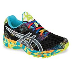 Junior`s Gel Noosa Tri 8 Running Shoes Onyx/Confetti