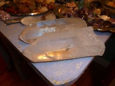 Quartz crystal  used to amplify intentions and clear energy fields