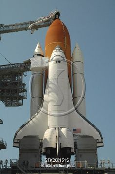 Stocktrek Images Solid-Faced Canvas Print Wall Art Print entitled Space Shuttle Discovery in full launch configuration