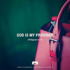 God is my provider. Spiritual Sayings, Religious Quotes, Book Of Philippians, Magic Words, Walk By Faith, Power Of Prayer, Son Of God, Bible Scriptures, Christian Quotes