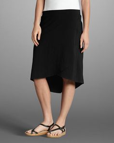 Women's Tulip Skirt. Crossover design to create a graceful effect -- $29.99