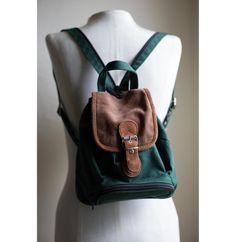 d2d95e2a1f 90s Vintage Grunge Revival Hunter Green Mini Backpack by sopasse Vintage  Grunge