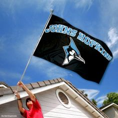 John Hopkins Blue Jays JHU University Large College Flag by College Flags and Banners Co.. $29.95. 3'x5' in Size with two Metal Grommets for attaching to your Flagpole. Made of 100% Nylon with Quadruple-Stitched Flyends for Durability. Officially Licensed and Approved by John Hopkins University. Perfect for your Home Flagpole, Tailgating, or Wall Decoration. The John Hopkins Logos are viewable on Both Sides (Opposite side is a reverse image). This John Hopkins Fla...