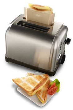 ToastaBags  Handy sleeves make perfect toaster sandwiches without the mess