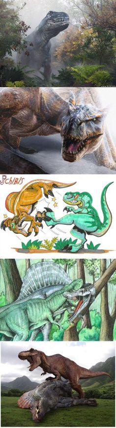 Tyrannosaurus Rex vs. Spinosaurus Aegypt...