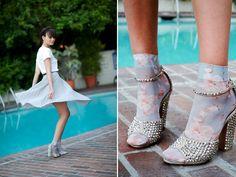 I love these socks and heels together #socksandheels