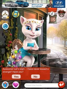 my talking angela para iphone 1 Creepy Text, Panda Bebe, What's My Favorite Color, Just A Game, Funny Laugh, Love To Shop, Iphone, Videos Funny, Funny Moments