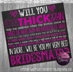 Bridesmaid Proposal Cards Printable File by WhimsicalStationery, $10.00
