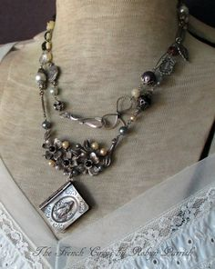 RICORDO DI ROMA vintage assemblage double wrap by TheFrenchCircus