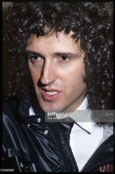 Brian May on a train (De Kameel) from Leiden to Amsterdam, Netherlands, 25th April 1982. photo by Rob Verhorst