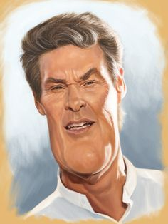 "Caricatures by Mark Hammermeister ""the Hoff"" Funny Caricatures, Celebrity Caricatures, Celebrity Drawings, Cartoon Faces, Funny Faces, Cartoon Art, Caricature Artist, Caricature Drawing, Drawing Art"
