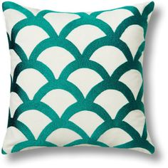 C. Wonder Embroidered Wave Pillow Cover found on Polyvore