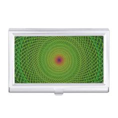 Green fractal business card cases $24.25