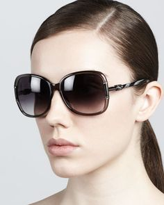 Butterfly Sunglasses, Gray by Lanvin at Neiman Marcus.