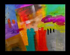 Colorful Large Original Modern Abstract Painting by SavarinoArt, $698.00