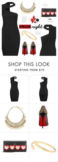 """""""The Perfect Prom Night"""" by meyli-meyli ❤ liked on Polyvore featuring Christian Louboutin, Fendi, Chanel, PROMNIGHT, yoins, yoinscollection and loveyoins"""