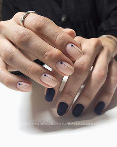 What manicure for what kind of nails? - My Nails Gradient Nails, Holographic Nails, Acrylic Nails, Minimalist Nails, Solid Color Nails, Nail Colors, Short Nails, Long Nails, Cute Nails