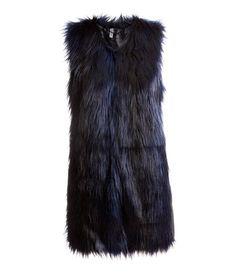 Product Detail | H&M US - Faux Fur Vest $59.95