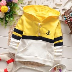 yrs children clothing boys T-shirts fashion spring autumn kids casual patchworking buttons pockets stripe hoodies tee shirt Baby Outfits, Kids Outfits, Boys Hoodies, Boys T Shirts, Baby Boy Fashion, Kids Fashion, Kids Clothes Boys, Children Clothing, Fashion Wear