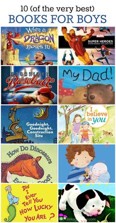 My top 10 list of favorite books for boys aged 3-5.
