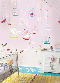 Onszelf Kids Wallpaper Panels- Flamingo by Onszelf