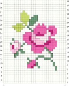 Simple rose pattern  maybe for #tapestry #mochila #fairisleknitting #crochetlover #crochetersofinstagram #crochetlove #kleurrijk #crochetlovefrom #haken #crochet #virka #hakeln #instacrochet #craftastherapy #hekle #hakeniship #stricken #breien #knittersofinstagram