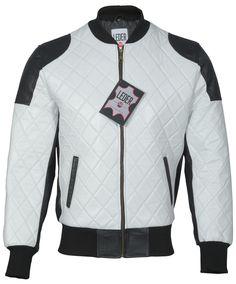 men's leather jacket in black / white 2060 / Herren Lederjacke in schwarz / weiß 2060 Men's Leather, Leather Jacket, Motorcycle Jacket, Biker, Black White, Jackets, Fashion, Black, Studded Leather Jacket