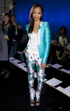 Zoe Saldana  #Hollywood #Celebrities #Fashion #Style