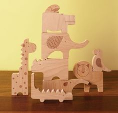 Safari Jumble blocks from Petit Collage are for both building and imagination. Really love these.