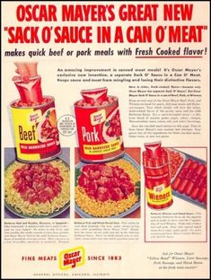 Sack o sauce in a can o meat Disgusting!