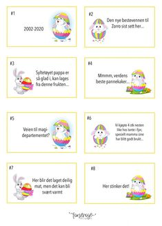 Påskerebus gratis print // Easter egg hunt free printable Påske // Eggjakt // Rebus // Skattejakt // Gratis print Diagram, Printables, Comics, Art, Art Background, Print Templates, Kunst, Cartoons, Performing Arts