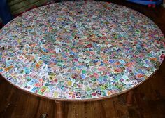 table, decoupage, up view | decoupage table, decoupage and cabinet