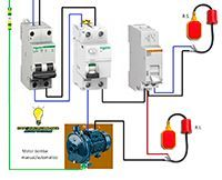 Esquemas eléctricos: Motor bomba Mnual-Automatico Electrical Installation, Electrical Wiring, Electrical Engineering, Septic Tank Covers, Refrigeration And Air Conditioning, Electrical Circuit Diagram, Structured Cabling, Home Technology, Electronic Gifts