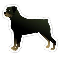 Rottweiler Basic Breed Silhouette by TriPodDogDesign